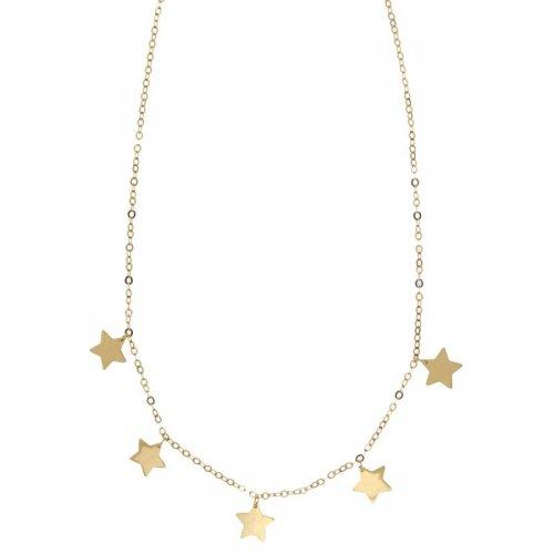 Collana Donna con stelle in Oro Giallo 803321737230