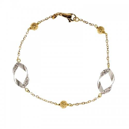 Women's Bracelet Yellow and White Gold 803321724444