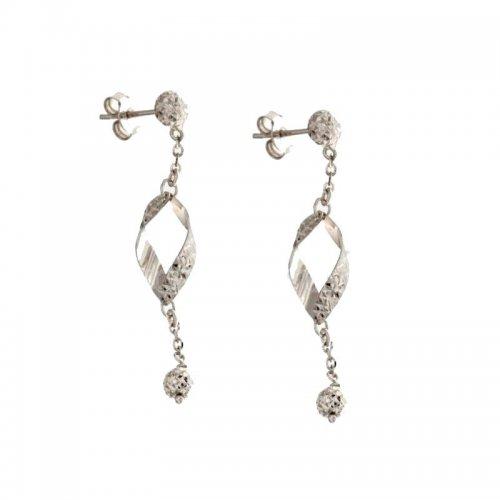 Women's Long Earrings in White Gold 803321724358