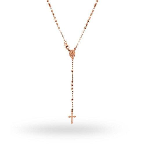 Collana Rosario in argento 925 rosato 45 cm 18033