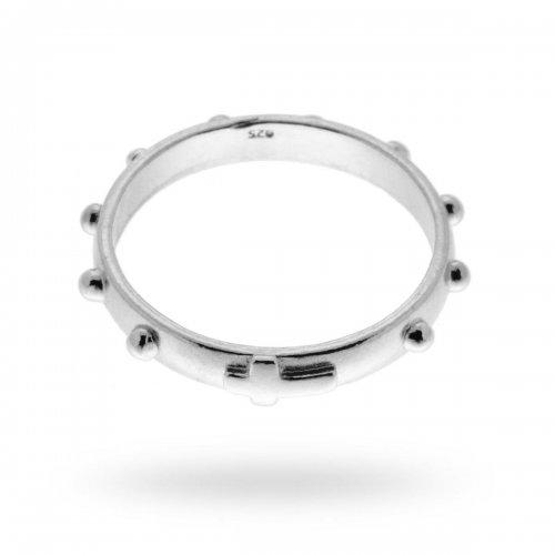 Fedina anello rosario in argento 925 12540