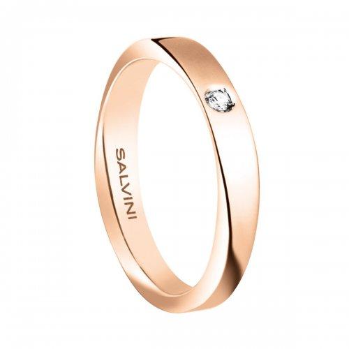 Fede nuziale Salvini Oro rosa Diamante Infinity 20056374