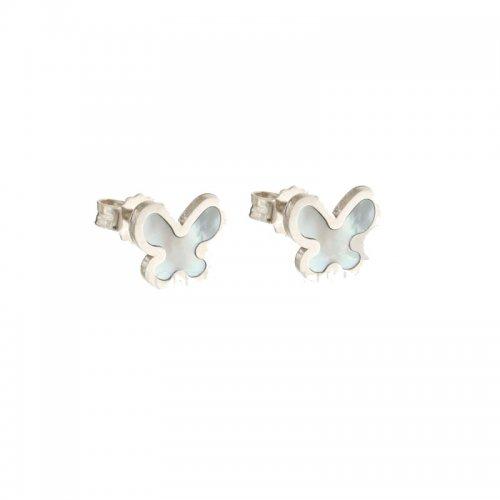 Orecchini Donna Oro bianco farfalle 803321733452
