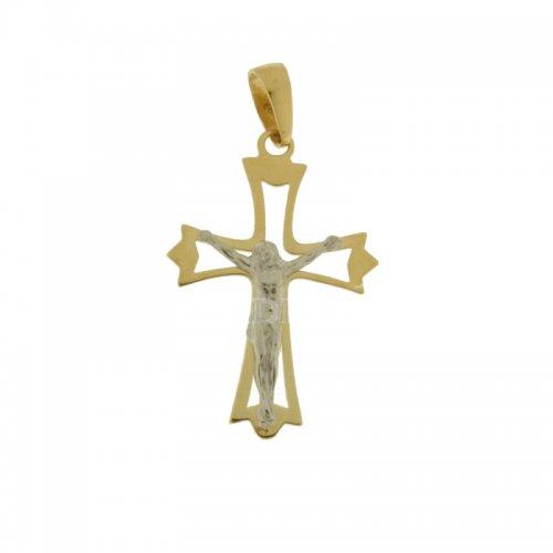 Croce Uomo in Oro Giallo e Bianco 803321714002