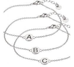 Bracciale Lettere Iniziale Marlù Donna in acciaio 18BR047