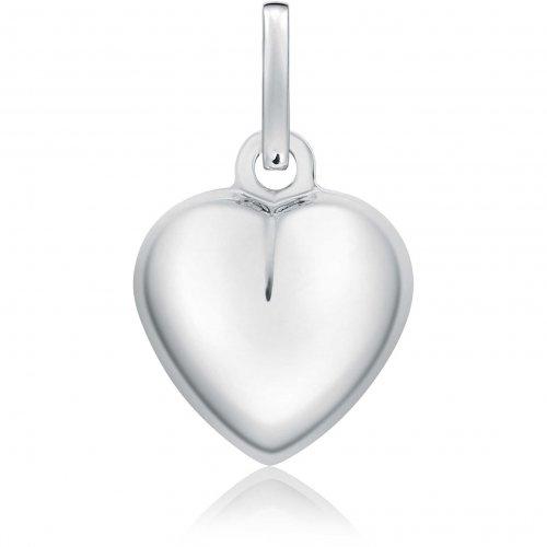 White gold heart pendant 803321711246