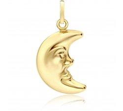 Yellow gold moon pendant 803321705518