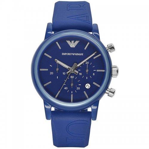 Orologio da polso Emporio Armani AR1058 con cinturino blu in gomma logato