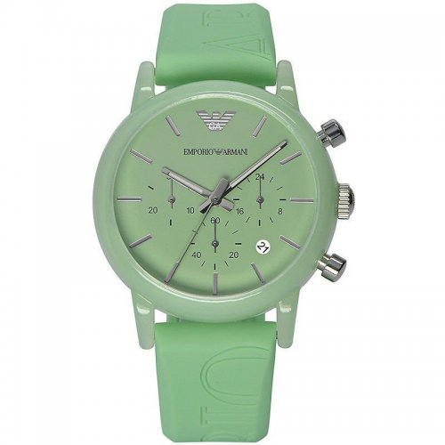 Orologio da polso Emporio Armani AR1057 con cinturino verde in gomma logato