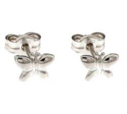Girls Butterfly Earrings White Gold 803321728717