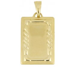 Yellow gold customizable medal pendant 803321714946