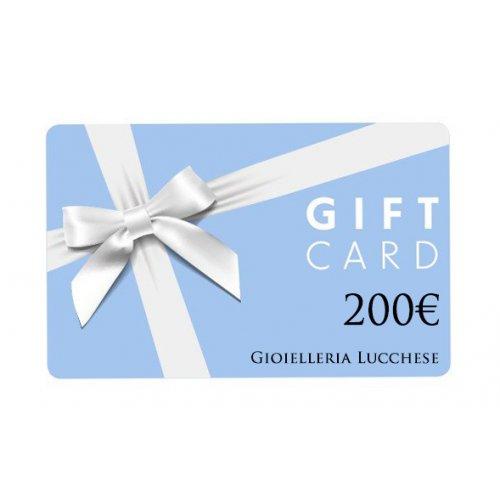 Buono regalo gift card 200€