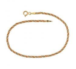 Bracciale fune donna in oro tre colori 803321708045