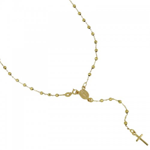 Rosary Necklace White Gold Miraculous Madonna 803321712164