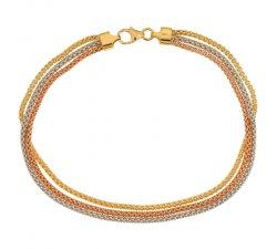 Bracciale donna in oro tre colori 803321718113