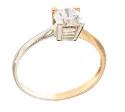 Anello solitario bicolore da donna Oro Bianco e Rosa 803321736195