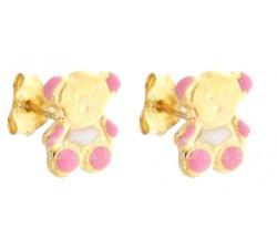 Yellow Gold Teddy Bear Earrings 803321712438