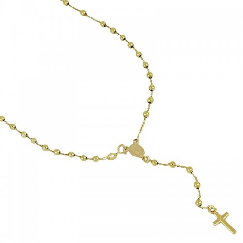 Miraculous Madonna Yellow Gold Rosary Necklace 803321716888