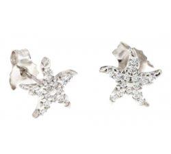Starfish Girl Earrings White Gold 803321713559