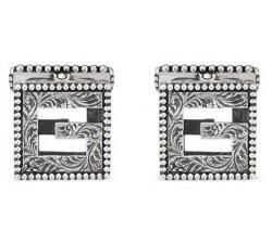 Gucci Men's Silver Cufflinks G Cube Collection YBE55276500100U