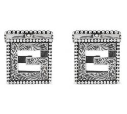 Gemelli Gucci Uomo Argento Collezione G Cube YBE55276500100U