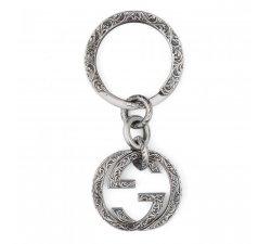 Gucci Unisex Silver Interlocking Keychain YBF45530800100U