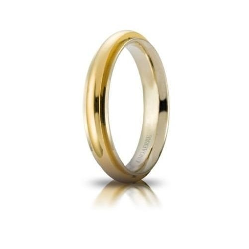 UNOAERRE Andromeda Wedding Ring White Yellow Gold Brilliant Promises