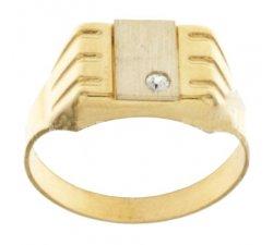 Anello Uomo in Oro Giallo e Bianco 803321711971