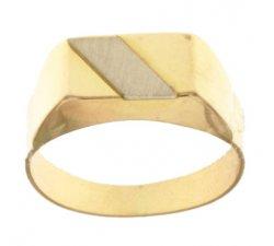 Anello Uomo in Oro Giallo e Bianco 803321712012