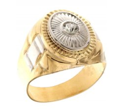 Men's Ring in White and Yellow Gold 803321700382