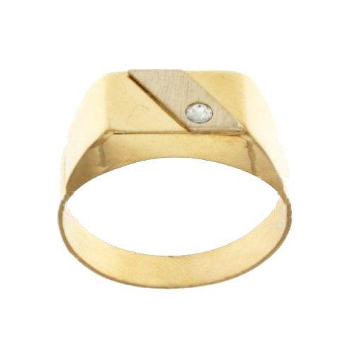 Anello Uomo in Oro Bianco e Giallo 803321715404
