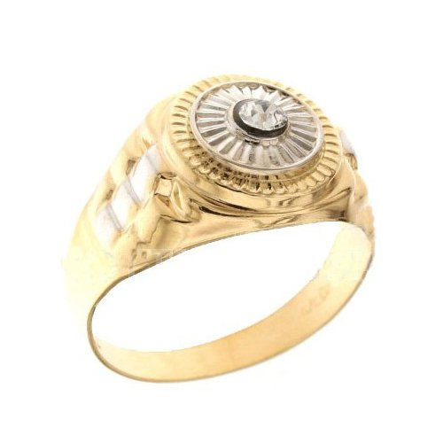 Men's Ring in White and Yellow Gold 803321700363