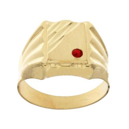 Anello Uomo in Oro Giallo con Pietra Rossa 803321715403
