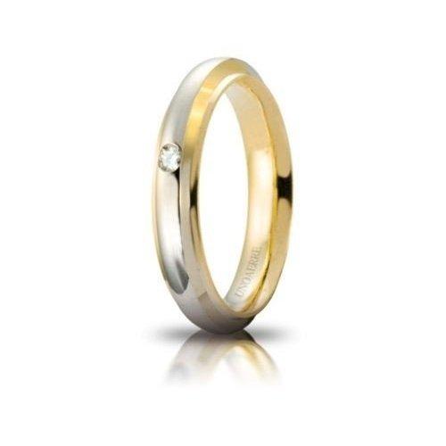 UNOAERRE Cassiopeia Wedding Ring with Diamond White Yellow Gold Brilliant Promises