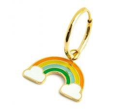 Marlù single earring with rainbow pendant 18OR071G