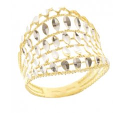 Yellow and White Gold Woman Ring 803321731979
