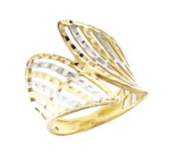 Yellow and White Gold Woman Ring 803321727497