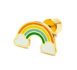 Marlù single earring with rainbow 18OR074