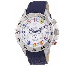 Orologio Nautica da uomo A24513G Bandierine Cinturino in pelle blu