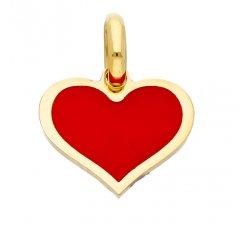 Woman heart pendant Yellow gold GL100013