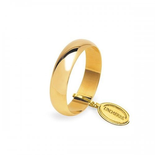 Fede Nuziale UNOAERRE Mantovana 5 grammi Oro giallo Classica
