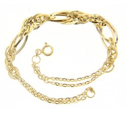 Women's bracelet Yellow and white gold 171216