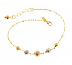Women's bracelet Yellow, white and pink gold 212816