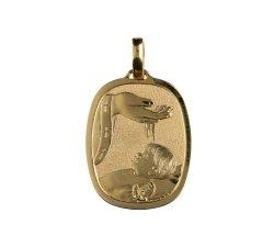 Medaglia Ciondolo da Battesimo Oro Giallo GL100020