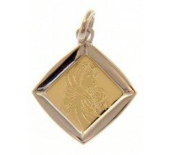 Ciondolo Madonna oro giallo e bianco GL100021
