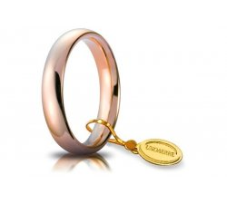Unoaerre Comfortable Wedding Ring 4 mm Rose Gold