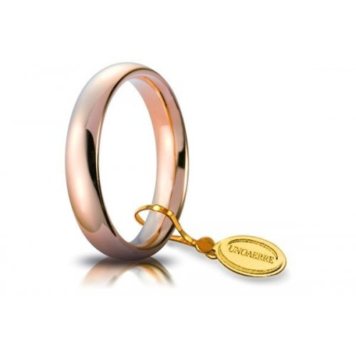 Unoaerre Comfortable Wedding Ring 4 mm Rose Gold