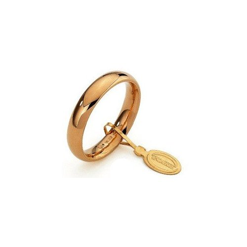 Unoaerre Comfortable Wedding Ring 4 mm Yellow Gold