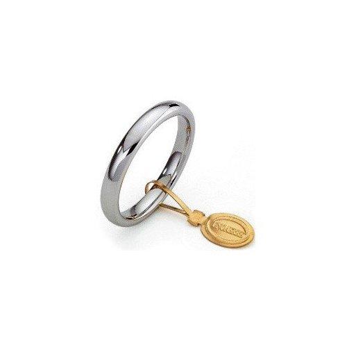 Fede Nuziale Unoaerre Comoda 3 mm Oro bianco