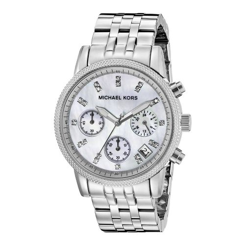MICHAEL KORS women's watch in steel with mother of pearl dial MK5020